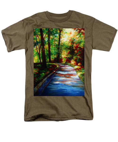 Men's T-Shirt  (Regular Fit) featuring the painting A Morning Walk by Emery Franklin