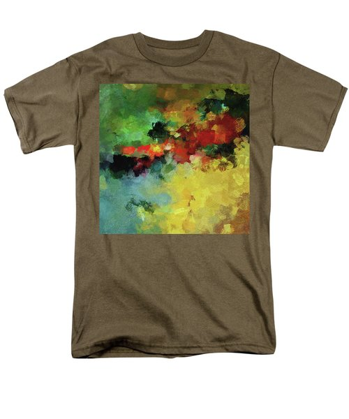 Men's T-Shirt  (Regular Fit) featuring the painting Abstract And Minimalist  Landscape Painting by Ayse Deniz