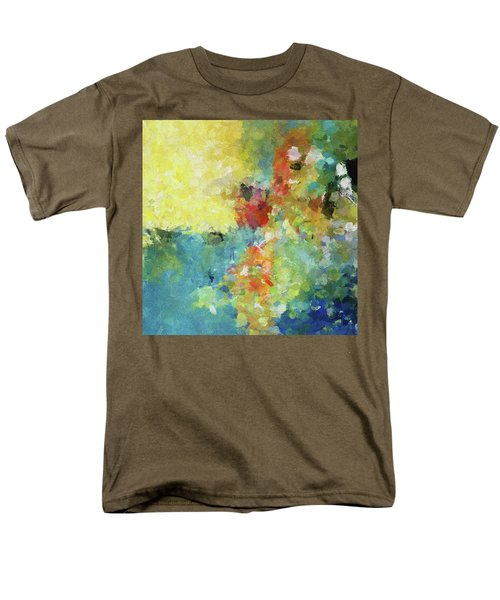 Men's T-Shirt  (Regular Fit) featuring the painting Abstract Seascape Painting by Ayse Deniz