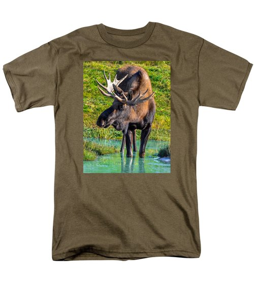 Alaska Moose 5 Men's T-Shirt  (Regular Fit) by Brian Stevens