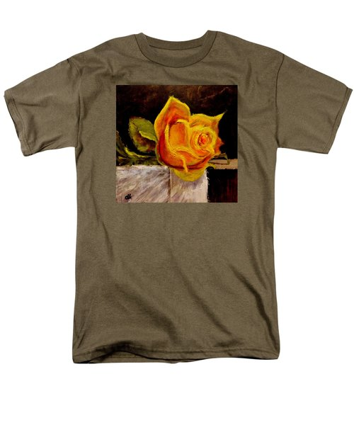 Men's T-Shirt  (Regular Fit) featuring the painting Alone.. by Cristina Mihailescu