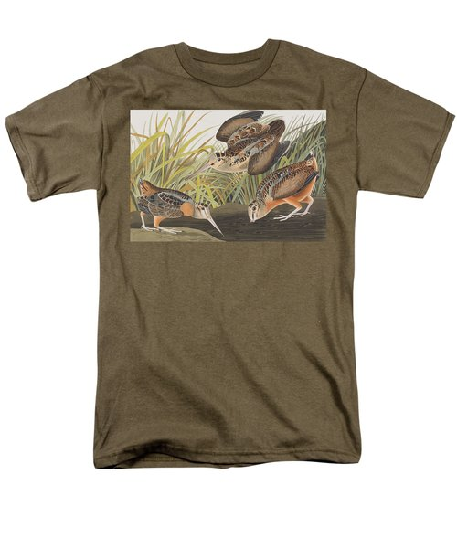 American Woodcock Men's T-Shirt  (Regular Fit) by John James Audubon