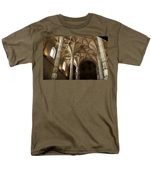Men's T-Shirt  (Regular Fit) featuring the photograph Lisbon Cathedral's Ancient Arches  by Lorraine Devon Wilke