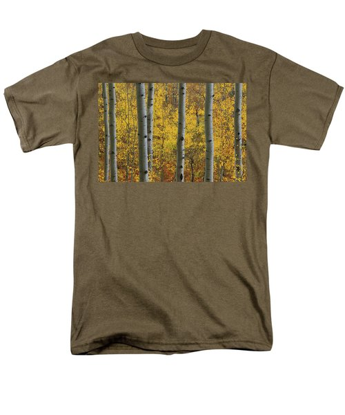 Men's T-Shirt  (Regular Fit) featuring the photograph Aspen In Autumn At Mcclure Pass by Jetson Nguyen