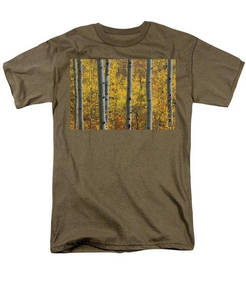 Aspen In Autumn At Mcclure Pass Men's T-Shirt  (Regular Fit) by Jetson Nguyen
