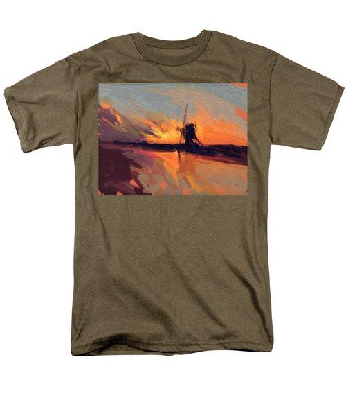 Autumn Indian Summer Windmill Holland Men's T-Shirt  (Regular Fit) by Nop Briex
