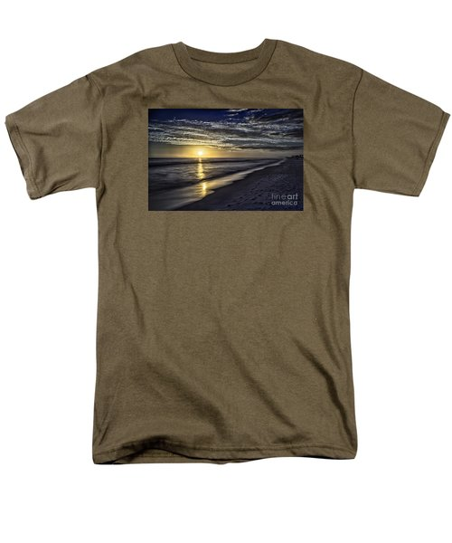 Beach Sunset 1021b Men's T-Shirt  (Regular Fit) by Walt Foegelle