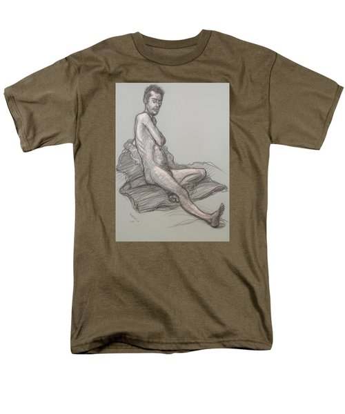Men's T-Shirt  (Regular Fit) featuring the drawing Bert Seated by Donelli  DiMaria