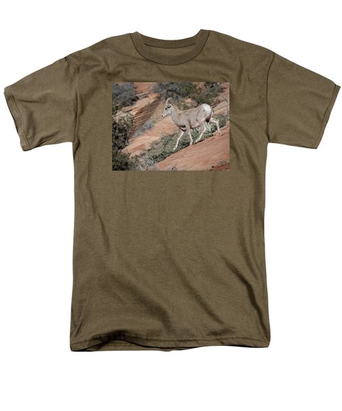 Men's T-Shirt  (Regular Fit) featuring the photograph Big Horn Sheep by Tyson and Kathy Smith