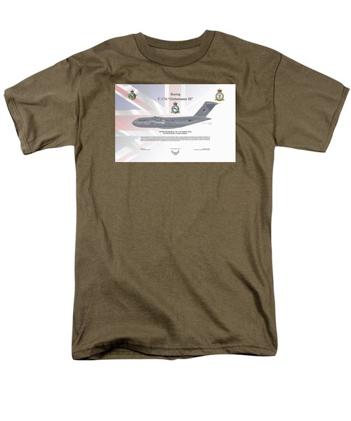 Men's T-Shirt  (Regular Fit) featuring the digital art Boeing C-17 Globemaster IIi by Arthur Eggers