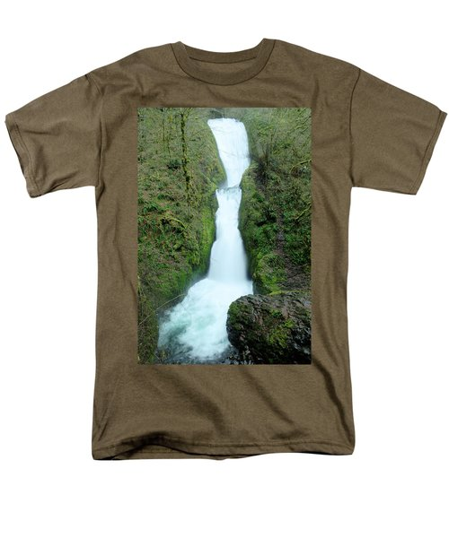 Men's T-Shirt  (Regular Fit) featuring the photograph Bridal Veil Falls by Jeff Swan