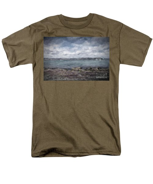 Men's T-Shirt  (Regular Fit) featuring the photograph Brixham Harbour by Patricia Hofmeester