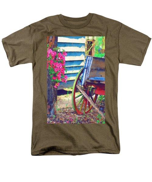 Men's T-Shirt  (Regular Fit) featuring the photograph Broken Wagon by Donna Bentley