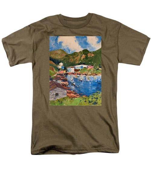 Coastal Village, Newfoundland Men's T-Shirt  (Regular Fit) by David Gilmore