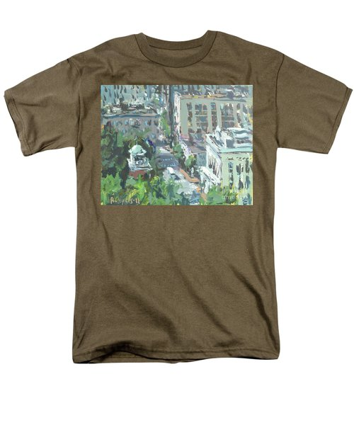 Contemporary Richmond Virginia Cityscape Painting Men's T-Shirt  (Regular Fit) by Robert Joyner