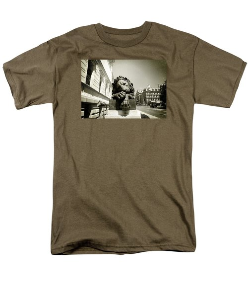 Men's T-Shirt  (Regular Fit) featuring the photograph Corcoran Lion by Victoria Lakes