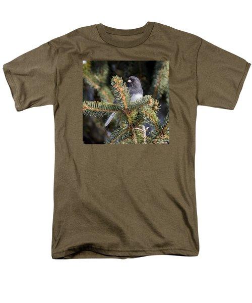 Men's T-Shirt  (Regular Fit) featuring the photograph Dark-eyed Junco by Ricky L Jones
