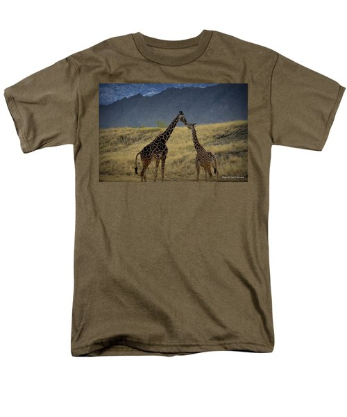 Men's T-Shirt  (Regular Fit) featuring the photograph Desert Palm Giraffe 001 by Guy Hoffman