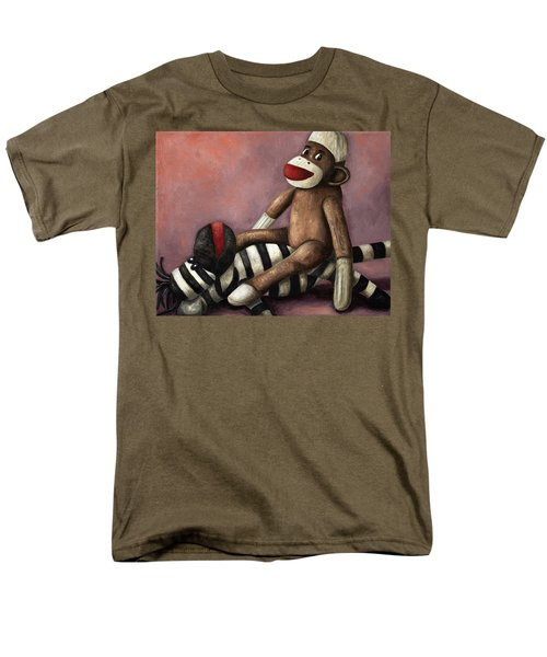 Dirty Socks 3 Playing Dirty Men's T-Shirt  (Regular Fit) by Leah Saulnier The Painting Maniac