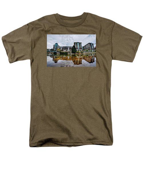 Downtown Of Greenville South Carolina Around Falls Park Men's T-Shirt  (Regular Fit) by Alex Grichenko