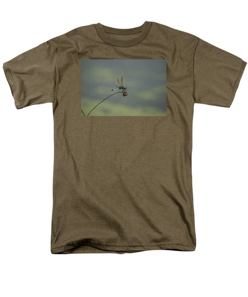 Men's T-Shirt  (Regular Fit) featuring the photograph Dragonfly by Heidi Poulin