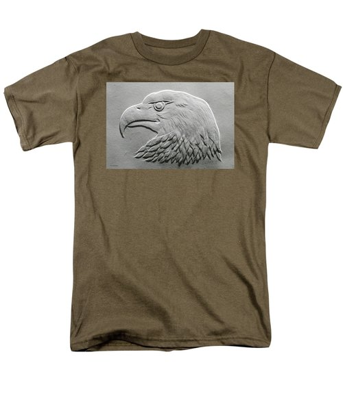 Eagle Head Relief Drawing Men's T-Shirt  (Regular Fit) by Suhas Tavkar