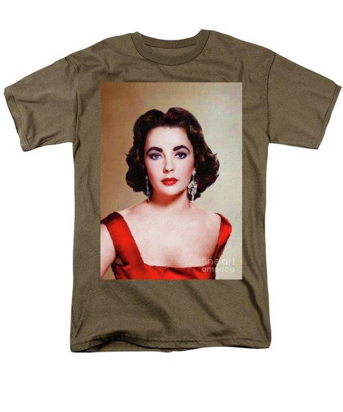 Elizabeth Taylor Hollywood Actress Men's T-Shirt  (Regular Fit) by Mary Bassett