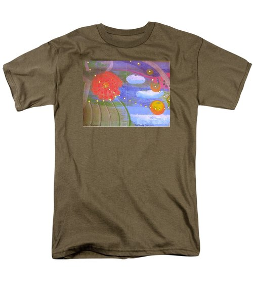 Men's T-Shirt  (Regular Fit) featuring the drawing Fantasy Garden by Rod Ismay