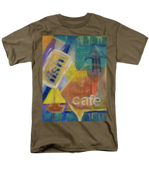 Men's T-Shirt  (Regular Fit) featuring the painting Fish Cafe by Susan Stone