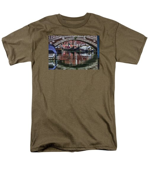 Men's T-Shirt  (Regular Fit) featuring the photograph Framed Gondolas by Shirley Mangini