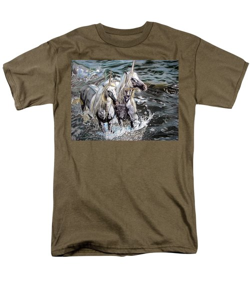 Men's T-Shirt  (Regular Fit) featuring the drawing Freedom And Friendship by Melita Safran