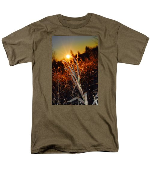 Men's T-Shirt  (Regular Fit) featuring the photograph Frosty Sunrise by Dacia Doroff