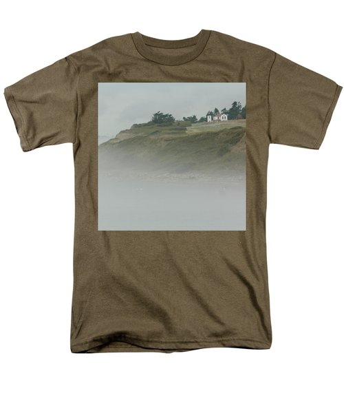 Ft. Casey Lighthouse Men's T-Shirt  (Regular Fit) by Tony Locke