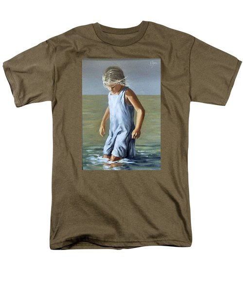 Men's T-Shirt  (Regular Fit) featuring the painting Girl by Natalia Tejera