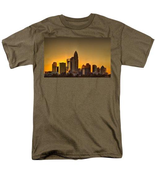 Golden Charlotte Skyline Men's T-Shirt  (Regular Fit) by Alex Grichenko