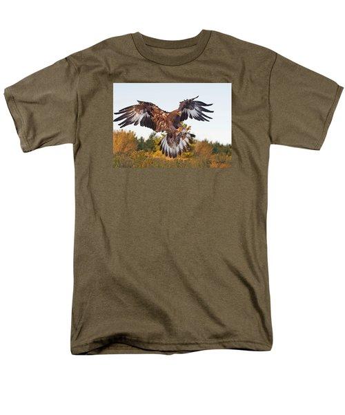 Golden Eagle Men's T-Shirt  (Regular Fit) by CR  Courson