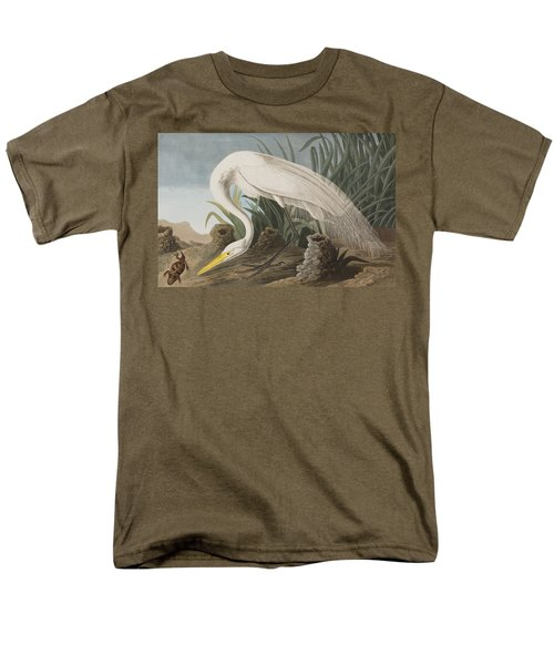 Great Egret Men's T-Shirt  (Regular Fit) by John James Audubon
