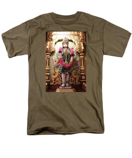Hanuman Ji, Radha Gopinath Mandir, Mumbai Men's T-Shirt  (Regular Fit) by Jennifer Mazzucco