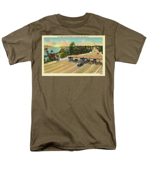 Men's T-Shirt  (Regular Fit) featuring the photograph Henry Hudson Bridge Postcard  by Cole Thompson