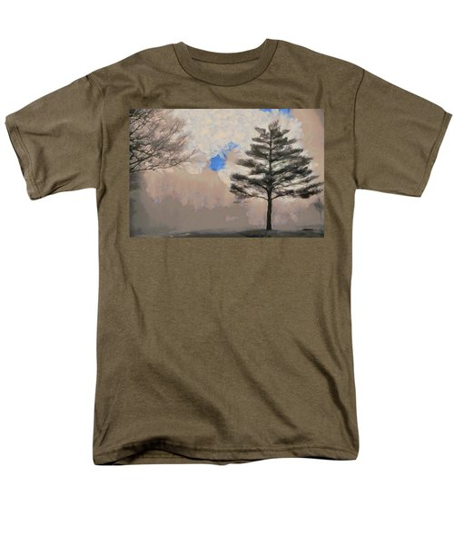 Men's T-Shirt  (Regular Fit) featuring the mixed media Hickory by Trish Tritz