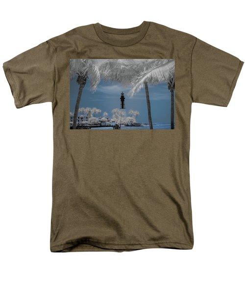 Men's T-Shirt  (Regular Fit) featuring the photograph Hillsboro Inlet Lighthouse by Louis Ferreira