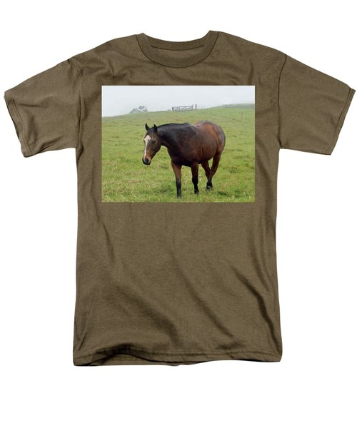 Horse In The Fog Men's T-Shirt  (Regular Fit) by Pamela Walton