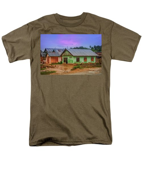 Men's T-Shirt  (Regular Fit) featuring the photograph Houses by Charuhas Images