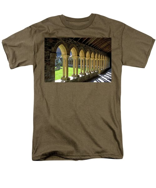 Iona Abbey Scotland Men's T-Shirt  (Regular Fit) by Jacqi Elmslie