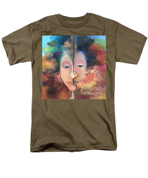 Men's T-Shirt  (Regular Fit) featuring the painting La Fille Foret by Art Ina Pavelescu