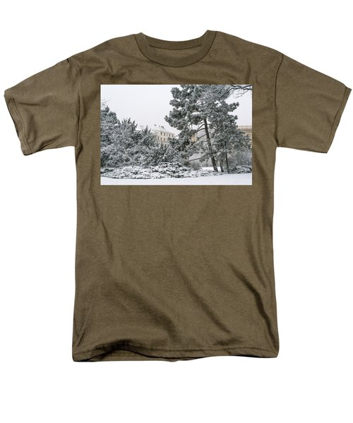 Men's T-Shirt  (Regular Fit) featuring the photograph Lacy Winter In Brno by Jenny Rainbow