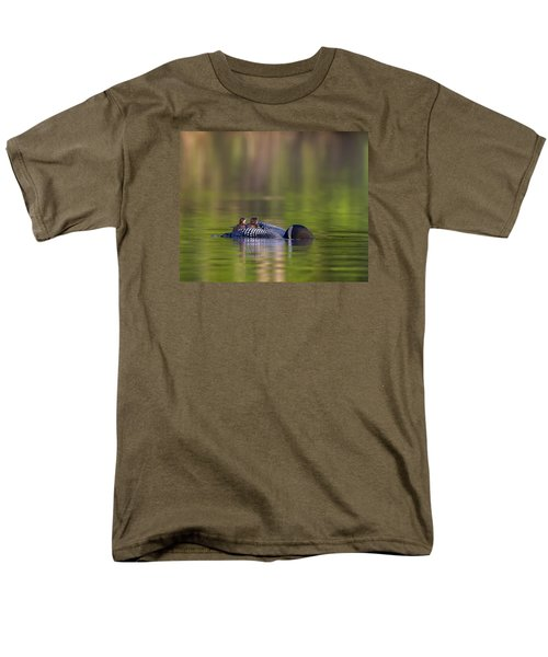 Loon Chick Yawn Men's T-Shirt  (Regular Fit) by John Vose