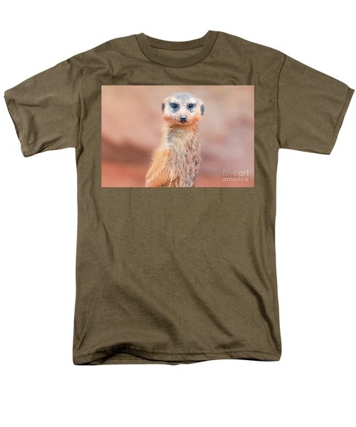 Meerkat Men's T-Shirt  (Regular Fit) by Stephanie Hayes