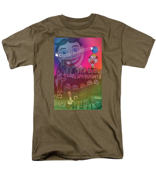 Men's T-Shirt  (Regular Fit) featuring the painting Memories Of Asbury Park by Patricia Arroyo