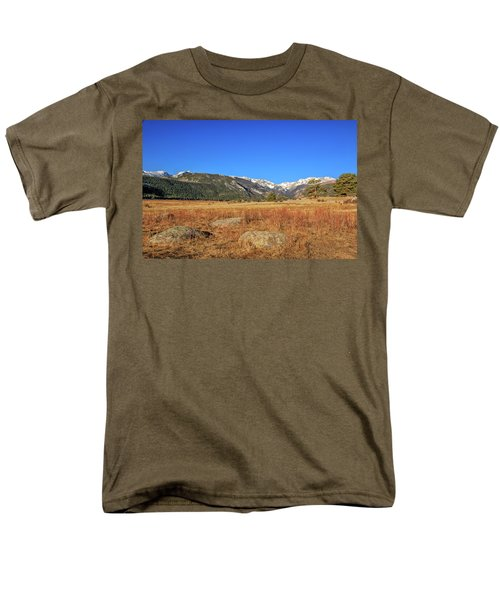 Moraine Park In Rocky Mountain National Park Men's T-Shirt  (Regular Fit) by Peter Ciro